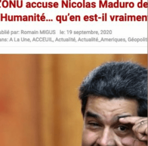 Accusations de «l'ONU» contre Maduro – Fausse nouvelle — Romain Migus