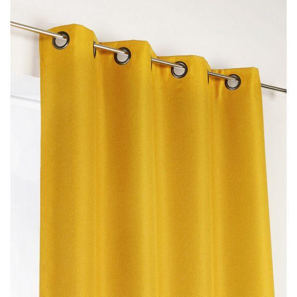 tissu occultant pour rideaux calypso orange