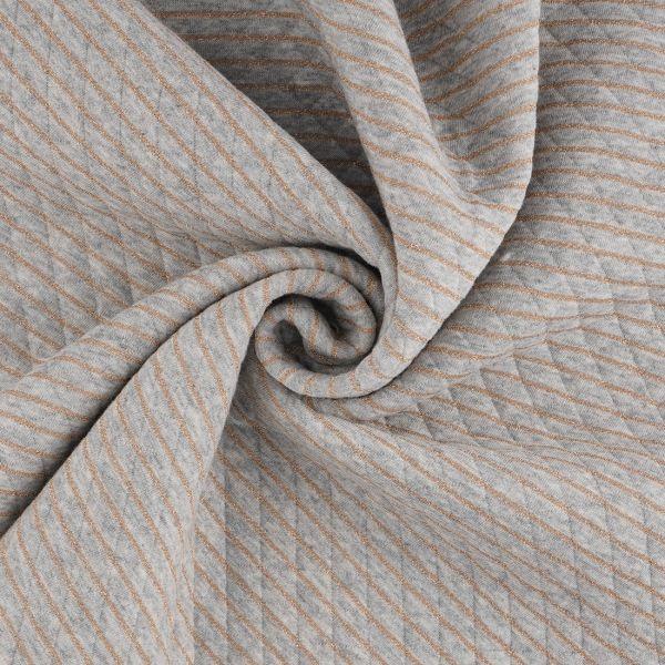 tissu jersey matelasse gris or