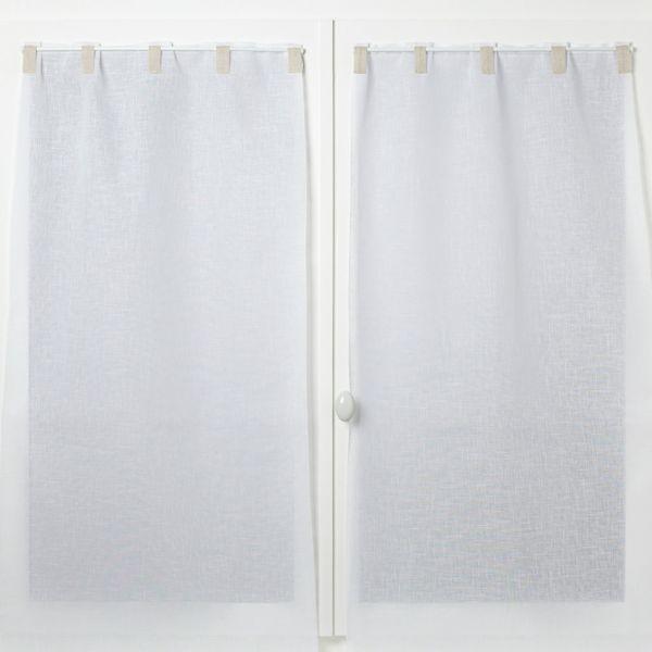 paire de rideaux a passants contrastes