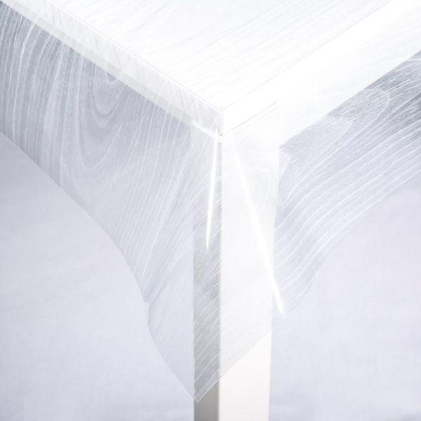nappage cristal transparent effet bois