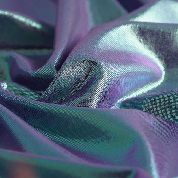 Jersey polyester brillant bleu