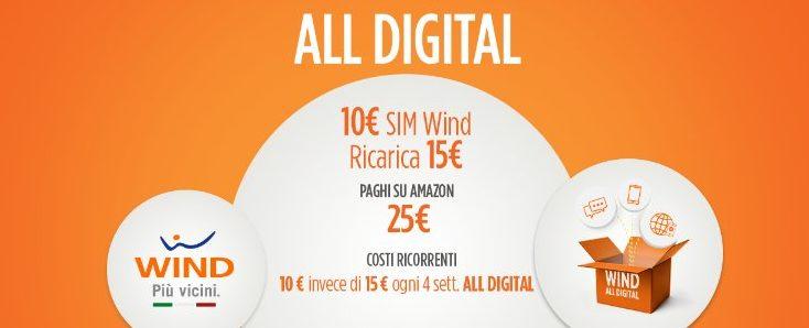 Wind, sempre più digital: cresce lo shop online su Amazon