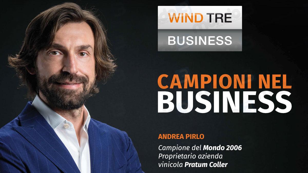 """Stasera sarà """"La Notte del Maestro"""": Wind Tre Business è sponsor della partita di addio di Andrea Pirlo"""