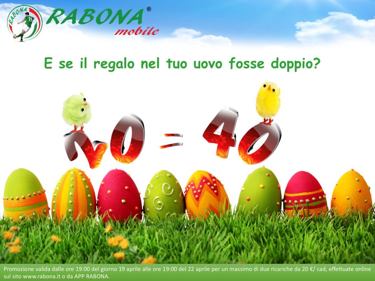 Anche a Pasqua la consueta promo sulle ricarica di Rabona