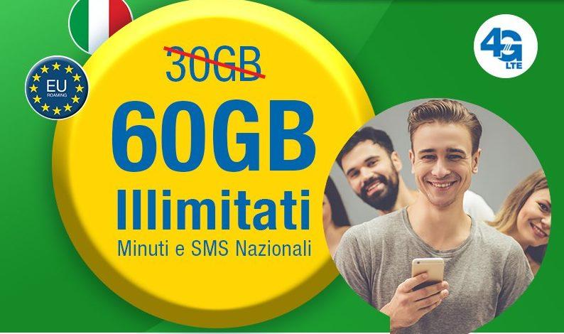 60GB con minuti e SMS illimitati: Lycamobile conferma ancora la sua offerta più ricca