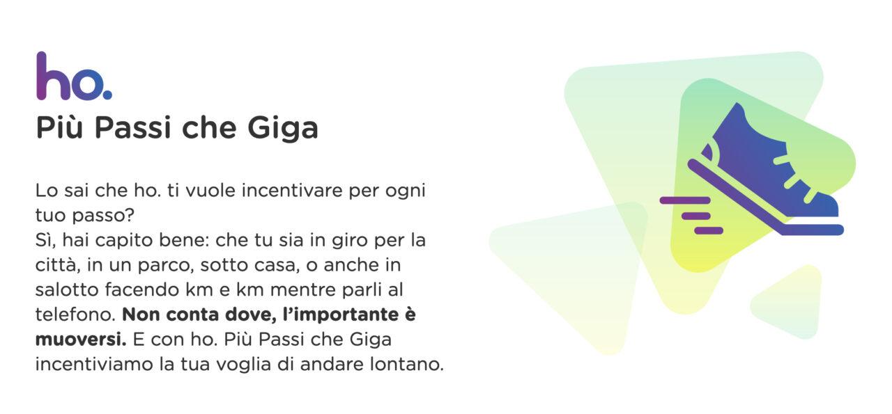 ho. Più Passi che Giga, l'app regala uno sconto da 10€