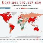 La mappa del debito pubblico mondiale