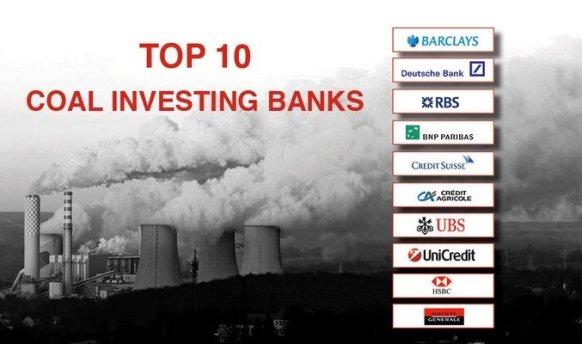 TOP 10 DELLE BANCHE CHE INVESTONO SUL CARBONE