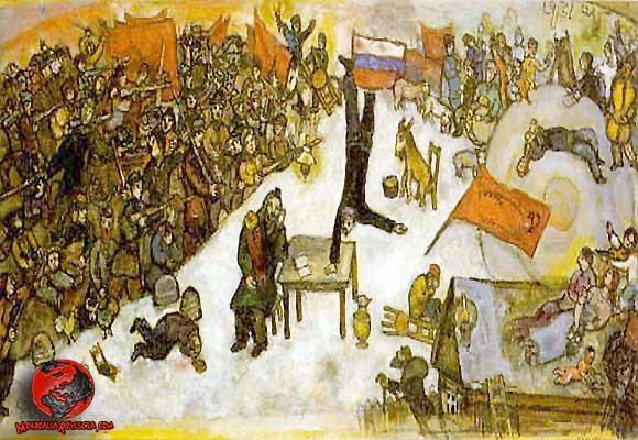 Quadro di Marc Chagall - La Rivoluzione