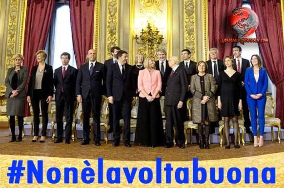 #Nonèlavoltabuona-Governo-Renzi