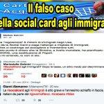 La balla della Social card agli immigrati, chi istiga al razzismo?