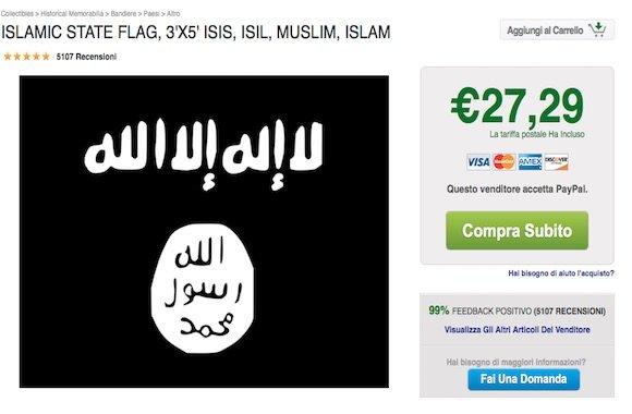 vendita bandiera Isis