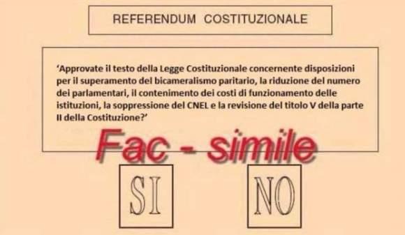 scheda referendum costituzionale
