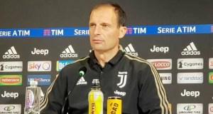 Juventus, l'allenatore Massimiliano Allegri in conferenza stampa