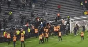 Ligue1, il video degli scontri dei tifosi di Angers ed Olympique Marsiglia
