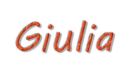 Nome per bambina, Giulia