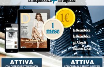Quotidiano Repubblica, leggere le notizie online a 1 Euro
