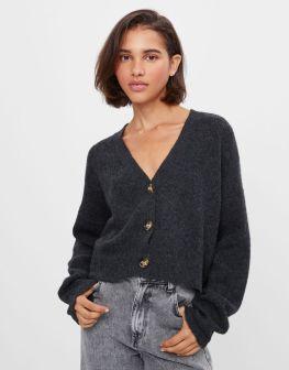 maglione grigio Bershka