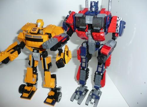 robot transformer Kre-O, Optimus e Bee