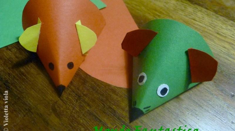 Topolino origami per bambini