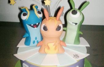 Slug per decorare torta di compleanno per bambini: cake con Slug