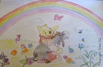 Winnie the Pooh e l'arcobaleno per decorare la cameretta