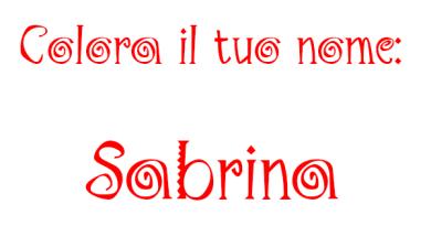 Colora il tuo nome Sabrina
