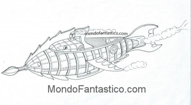Leggi Una Storia E Colora Il Nautilus E Il Capitano Nemo