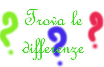 Trova le differenze, giochi per osservare