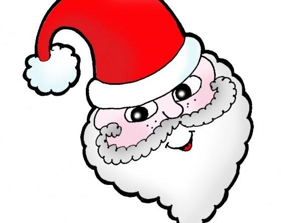 Babbo Natale disegni da ritagliare