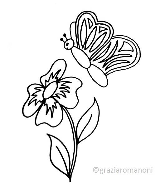 Disegnare e colorare una farfalla