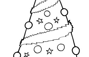Natale stampa e colora albero di Natale