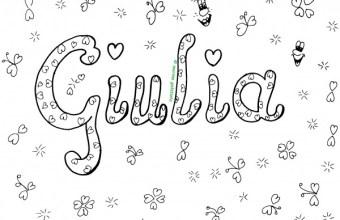 Nome da colorare: Giulia, su Mondo Fantastico