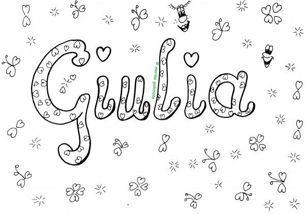 Nomi da colorare: Giulia, su Mondo Fantastico