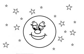 Disegni da stampare per bambini piccoli: la luna