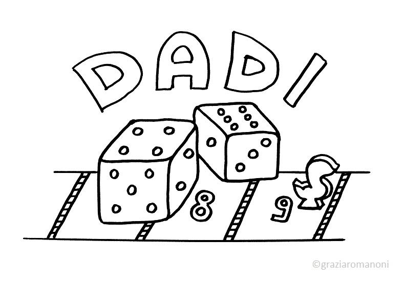 D come dadi e il gioco dell 39 oca for Gioco dell oca da stampare e colorare