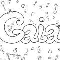 Nomi da colorare femminili: Gaia
