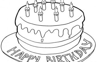 Torta di compleanno per bambini, disegni da stampare