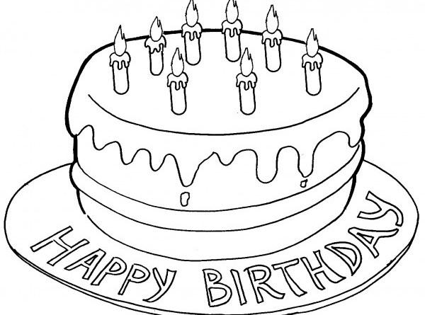 Disegni da stampare torta di compleanno