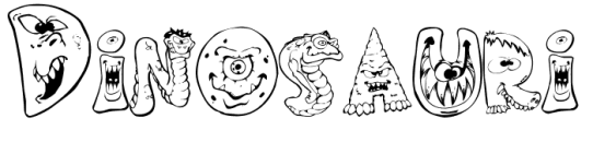 Parole da colorare Dinosauri