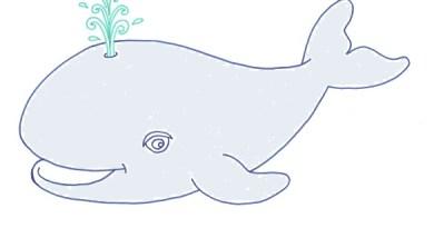 Disegni per bambini: la balena