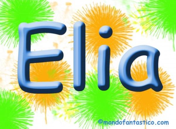 Elia significato del nome