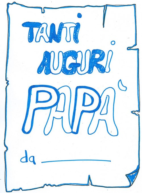 Festa del pap bigliettino da colorare for Immagini festa del papa da colorare