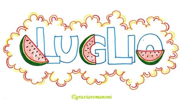 Calendari per bambini, colora luglio