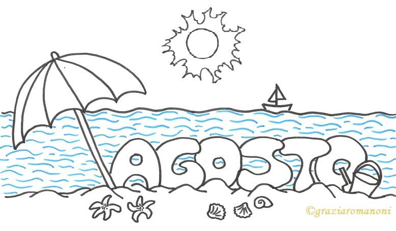 Calendario Per Bambino Colora Agosto Mondofantasticocom