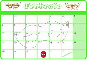 Calendario Febbraio 2018
