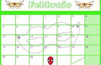 Calendario per Bambini, Febbraio