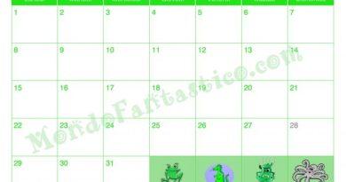 Calendario per bambini 2018 gennaio