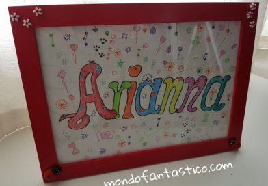Nomi femminili da colorare, Arianna